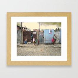 Baleeira Façade (Campos dos Goytacazes, Rio de Janeiro, Brazil)  Framed Art Print