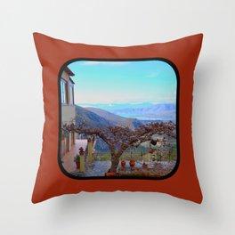 Delphi Valley, Greece  Throw Pillow