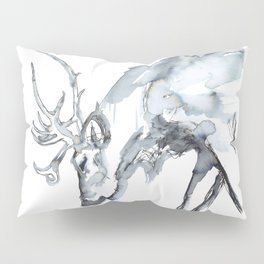 Watercolor Reindeer Sketch Pillow Sham