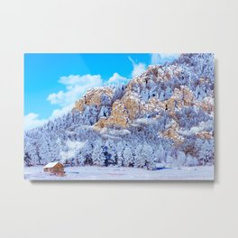 Winter Morning In The Mountains - Colorado Metal Print
