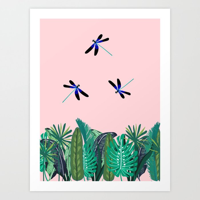 Sunny Day - Dragon-fly Art Print