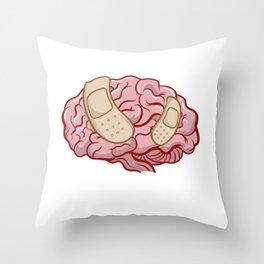 Brain Surgery Survivor I Broke My Brain Gift  Throw Pillow