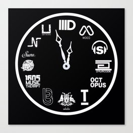 Techno Clock Canvas Print