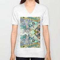 cage V-neck T-shirts featuring Cage by Shaila
