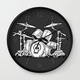 Drum Set Cartoon Wall Clock