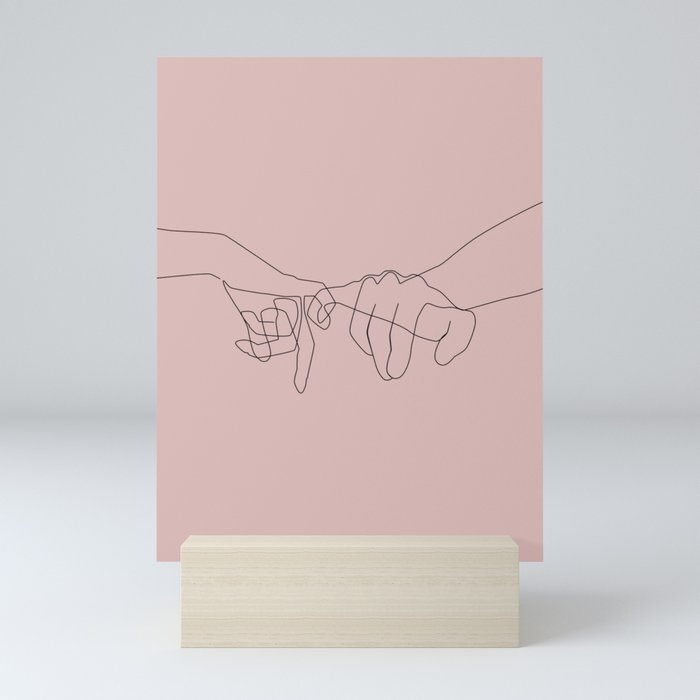 Blush Pinky Mini Art Print
