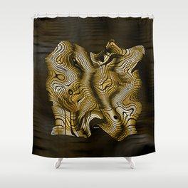 Golden Janus Shower Curtain