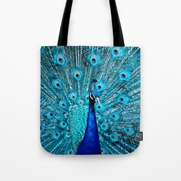 Peacock  Blue 11 Tote Bag