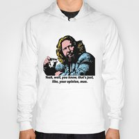 the big lebowski Hoodies featuring The Big Lebowski Quotes by Guido prussia