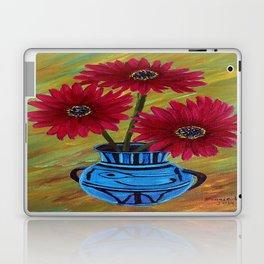 Blue vase with flowers/ still life  Laptop & iPad Skin