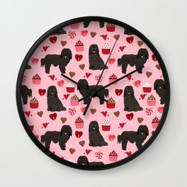 Havanese black coat cupcakes valentines day love dog breed gifts pure breed must haves Wall Clock