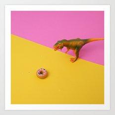 Dinos Like Donuts Art Print