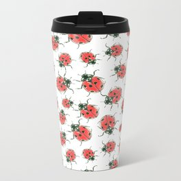 Ladybugs Metal Travel Mug