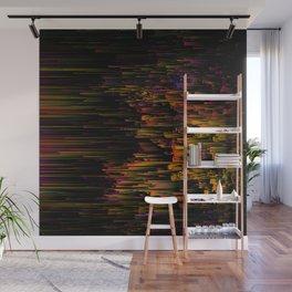 Rainbow Light Speed - Abstract Glitch Pixel Art Wall Mural