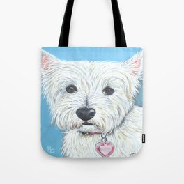 Annabell the sweet little West Highland Terrier Tote Bag