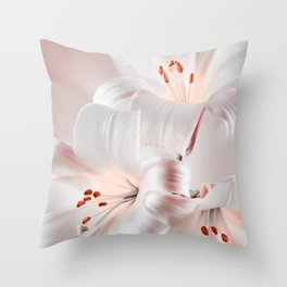 Regale lilies Throw Pillow
