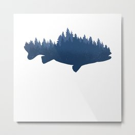 Forest Fish Nature Hiking Fishing Gift Metal Print
