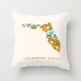 The Sunshine State Throw Pillow