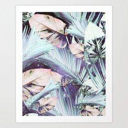 Stars and botanics Art Print