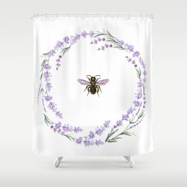 Lavender Bee Shower Curtain