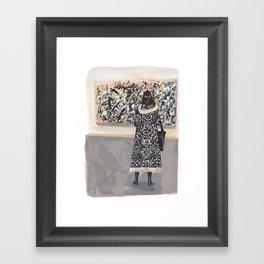 Pollock and Coat Framed Art Print
