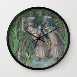 Double Blind II:  A Journey of the Senses Wall Clock