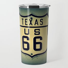 Historic U.S. old Route 66 sign in Texas. Travel Mug