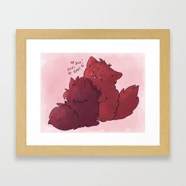Fluffy baps Framed Art Print