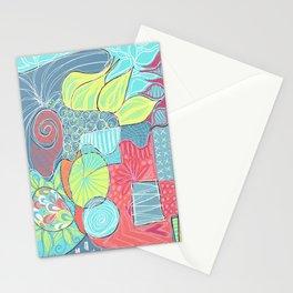 Retro Doodle design Stationery Cards