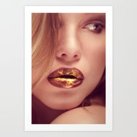 lip Art Prints featuring lip art by Photoplace