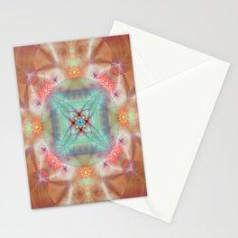 Fractal Art- Mint Art-Coral Art- Juorbin- Sacred Geometry Stationery Cards