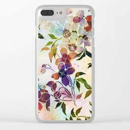 garland of flowers Clear iPhone Case
