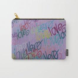 Purple Wall with Love  Carry-All Pouch