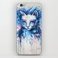 "space cat iPhone & iPod Skins featuring ""Space cat"" by PeeGeeArts"