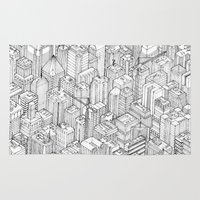 large Area & Throw Rugs featuring Isometric Urbanism pt.1 by Herds of Birds