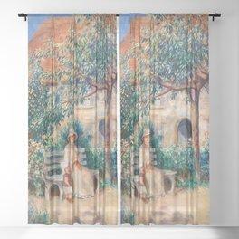 Pierre-Auguste Renoir - In Brittany Sheer Curtain
