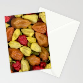 Hot Peppers Stationery Cards
