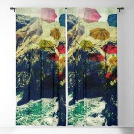 Ireland Cliff Cave Umbrellas Blackout Curtain