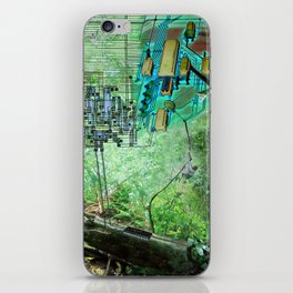 Digital Circuit Jungle Tree, creatures of the electronic age iPhone Skin