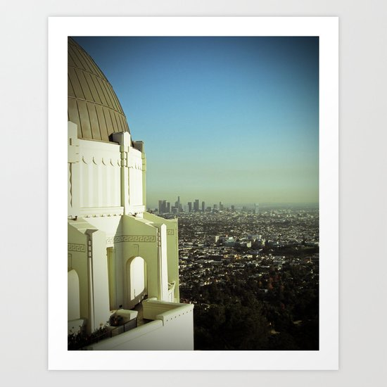 LA from the Griffith Art Print