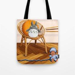 Kiki on a parquet Tote Bag