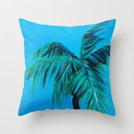 Palm Oasis Throw Pillow