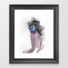 HER SHOULDER Framed Art Print