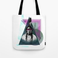 be brave Tote Bags featuring Brave by Damon Davis