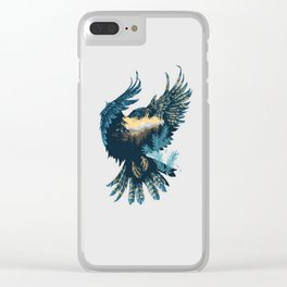 Forest Falcon Clear iPhone Case