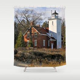 40 Mile Point Lighthouse Shower Curtain