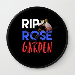 White House Roses Garden Wall Clock