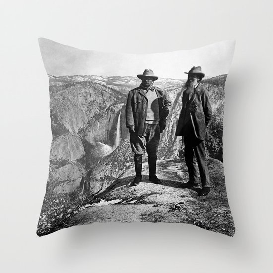 Teddy Roosevelt and John Muir - Glacier Point Yosemite Valley - 1903 by warishellstore