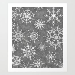 Winter Snowflakes Art Print