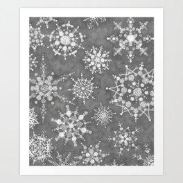 Winter Snowflakes Kunstdrucke